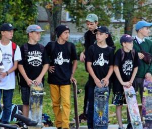 Скейтеры в футболках Загорский Стиль Сергиев Посад