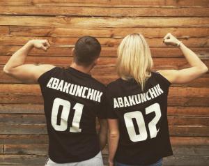 Напечатать парные именные футболки Сергиев Посад